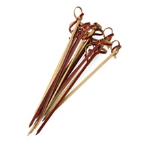 Knotted Brown Bamboo Skewers - 7""