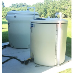 Double wall tanks for acid & fertilizer in dual injection system