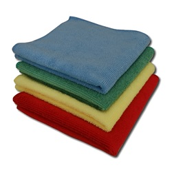 16X16 Red Microfiber Wiping Cloths