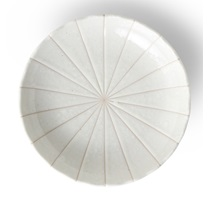 "Kasa Lines White 9"" Plate"