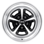 15 x 7 Magnum Alloy Wheel, 5 on 4.75 BP, 4.25 BS, Gloss Black/Machined