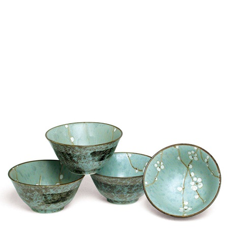 "Spring Blossoms 5.25"" Flared Bowl Set"