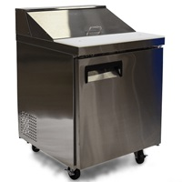 "FOODSERVICE ESSENTIALS MRSL-1D 27.5"" W REFRIGERATED 1-DOOR SALAD/SANDWICH PREP TABLE"