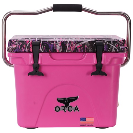 Moonshine Muddy Girl Camo Lid Pink 20 Quart