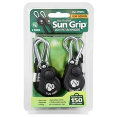 Sun Grip Push Button Light Hangers