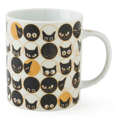 Cat Eyes 8 Oz. Mug - White