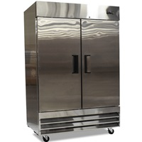"FOODSERVICE ESSENTIALS MRRF-2D SS SERIES TWO DOOR 54"" REACH-IN REFRIGERATOR"