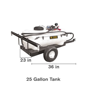 25 Gallon Trailer Lawn Sprayer