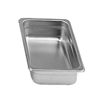 "Economy 24-Gauge 1/3 Size, 2-1/2"" Depth Steam Table Pan"