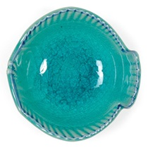 "Turquoise Blue Fish 3.5"" Bowl"