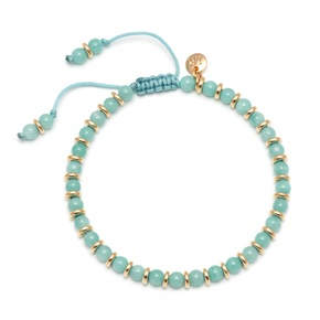 Lola Rose Notting Hill Bracelet, Sky Amazonite with Gold