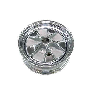 1964 Styled Steel Wheel (14X5 With Chrome Rim and Argent Paint)