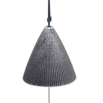 Wind Chime Cone Pewter Ribbed 2""