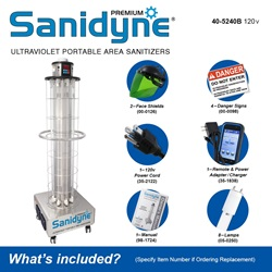 Sanidyne Premium Model Included Accessories