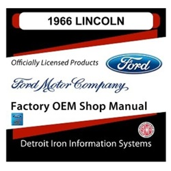 1966 Lincoln Factory Shop Manual, CD