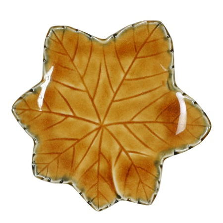 "Brown Leaf 4.75"" Plate"