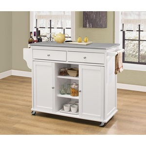 98307 KITCHEN CART W/STAINLESS TOP