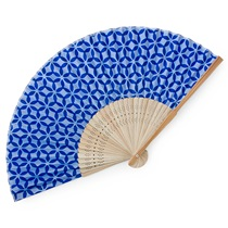 Folding Fan Shippo Blue