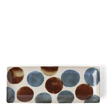 Rustic Dots Rectangle Plate