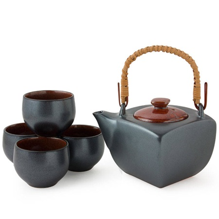 Black & Red Tea Set