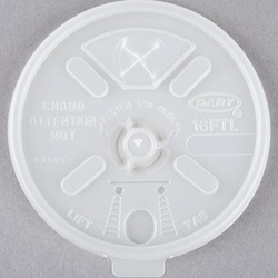 16FTLS DART 16 OZ WHITE LIFT N LOCK LID WITH