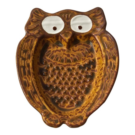 Owl Shaped Ceramic Grater - Borwn
