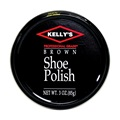 Kelly's Shoe Polish, Brown, 3oz Tin