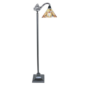 "61""H Mission Style Pharaoh's Jeweled Floor Lamp"