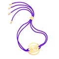 Daisy London Chakra Bracelet, Brow, Gold with Purple Cord