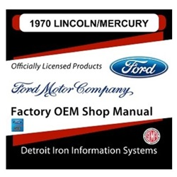 1970 Lincoln-Mercury Factory Shop Manual, CD
