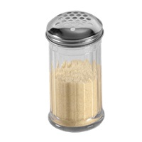 "American Metalcraft GLA319 Glass Cheese Shaker w/XL 1/4"" Holes"