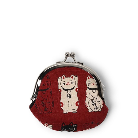 Purse Red Fortune Cats - Coin