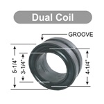 "Dual Coil 5.0"" Standard Spring Rubber"