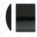 "1 3/8"" Black Body Side Molding"