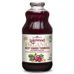 Beet/Ginger/Turmeric Juice Blend (Lakewood) - Organic - 32oz