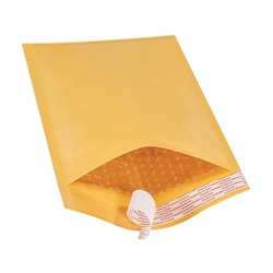 "6 X 10"" KRAFT BUBBLE MAILERS, SELF-SEAL, #0, 250/CS   B853SS"