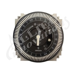 TIME CLOCK: 110V SPDT 15A 60HZ 24 HOUR 5 LUG WITH BYPASS