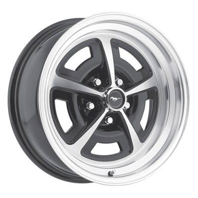 17x8 Magnum 500 Alloy Wheel, 5 on 4.5 BP, 4.75 BS, Gloss Black/ Machined