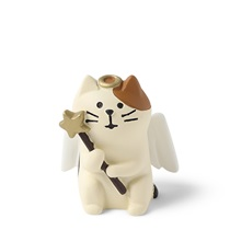 "FIGURINE ANGEL CAT 1.5""H"