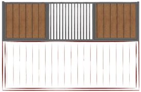 1/3 Center Grill with Vertical Wood Fill