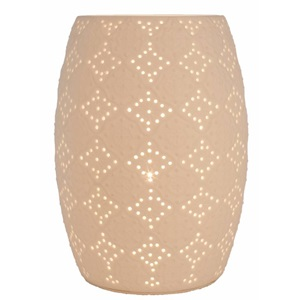 "10.75""H Ceramic Lace Uplight"