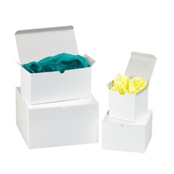 7 X 7 X 7 WHITE 1 PIECE GIFT BOX,