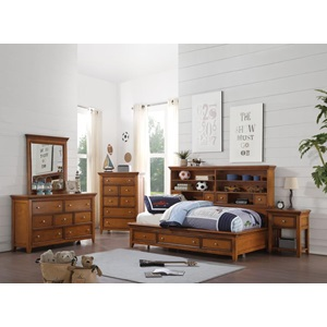 30550T LACEY CHERRY OAK TWIN DAYBED