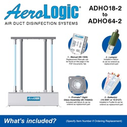 AeroLogic® UV Air Duct Commercial Disinfection Models - Two Lamp High Output