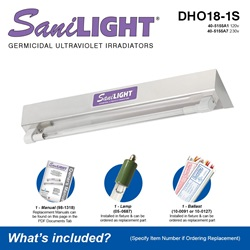 SaniLIGHT DHO18-1S Included Accessories