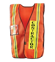 High Visibility Mesh Contractor Safety Vest
