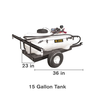 15 Gallon Trailer Lawn Sprayer
