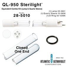 QL-950 Viqua™ / Sterilight® Equivalent Combo Kit (Lamp, Quartz Sleeve, O-Rings)