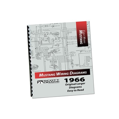 1966 Mustang Wiring Diagram Manual (Large Format)