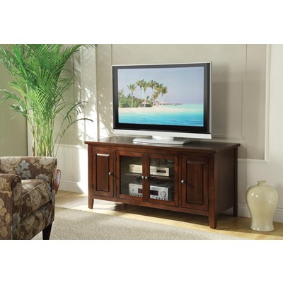 10346 CHOCOLATE FINISH TV STAND